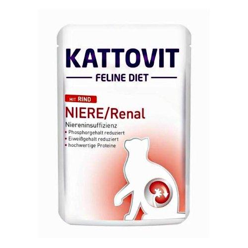 Kattovit Feline Diet Niere/Renal Rind 6x85 g