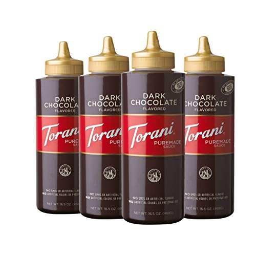Torani Puremade Dark Chocolate Sauce, 16.5 Ounces (Pack of 4)