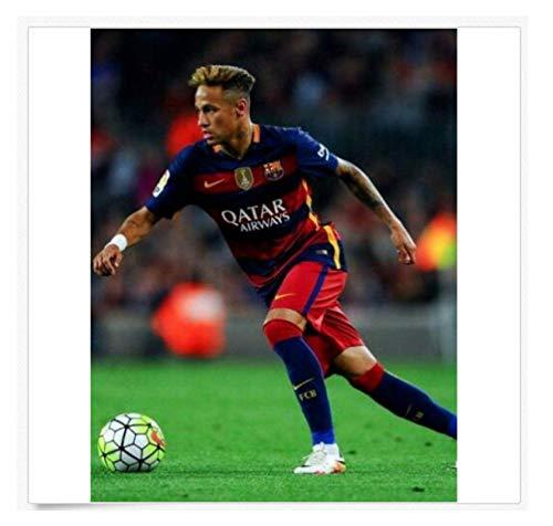 MRBIGWEI Neymar Jr 10 Paris Saint-Germain PSG Barcelona Póster Obra de Arte...