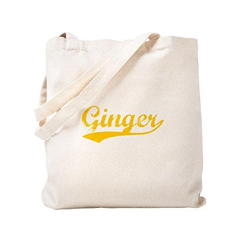CafePress Einkaufstasche, Vintage, Ginger (Orange), canvas, khaki, S