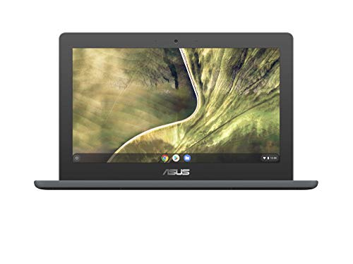ASUS Chromebook C204MA-GJ0342 - Portátil 11.6' HD (Celeron N4020, 4GB RAM, 32GB eMMC, UHD Graphics 600, Chrome OS) Gris Oscuro - Teclado QWERTY español