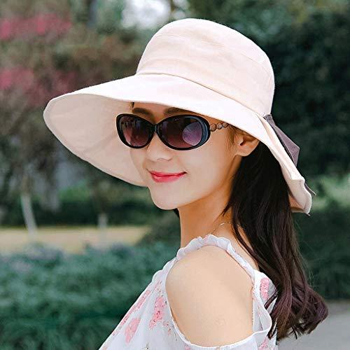 YWSZJ Literario. Sombrero Salvaje. Sombrero de Playa para Mujer. Primavera y Verano. Versión Coreana de la Marea. Japonés y Coreano.