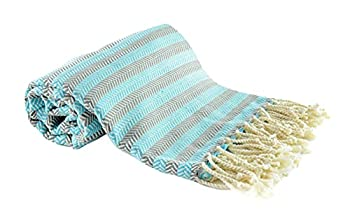 ONESE Turkish Towels - Beach Towels Oversized 70x40 inch -Turkish Bath Towels- Sand Cloud Towel - Beach Blankets - Oversized Turkish Beach Towels -Extra Large Beach Towels- Bath Towel  SERG Turquois