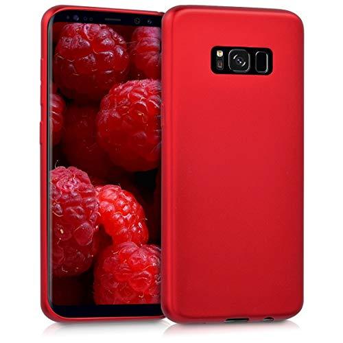 kwmobile Hülle kompatibel mit Samsung Galaxy S8 - Hülle Handyhülle - Handy Hülle in Metallic Dunkelrot