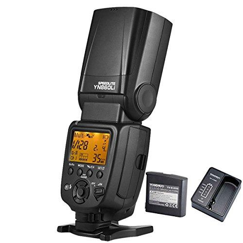 YONGNUO YN860Li-KIT Batería de litio inalámbrico Flash Speedlite GN60 2.4G Radio inalámbrica Master + Slave para Canon Nikon Pentax Olympus + NAMVO difusión