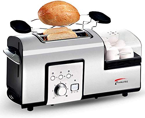 GJJSZ Panificadoras,tostadora para el hogar,Horno,tostadora,2 Piezas,Desayuno,escupir,Controlador,máquina de Huevos al Vapor