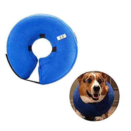Inflatable Collar Donut Dog Post Surgery Caring for Dogs Anti Bite Stop Chewing Collars Neck Pillows Soft Cone Pet & Cat Collar Pillow for Head No Lick Protector (Medium)