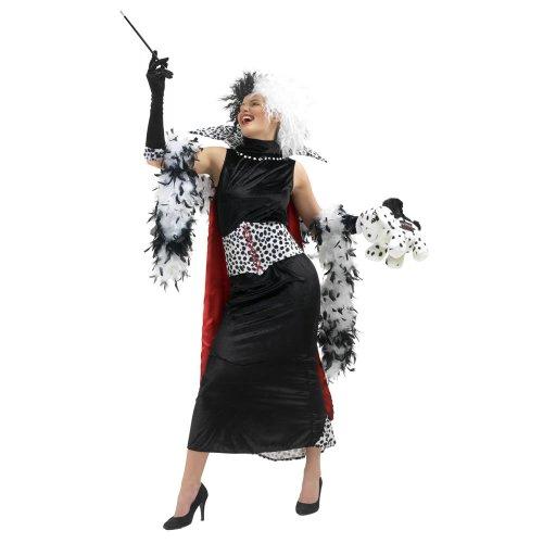 Rubbies - Disfraz de cruella de vil para mujer, talla M (888582MDM)