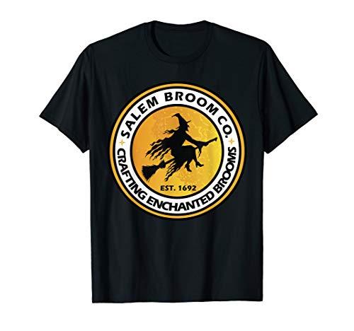 Hexe auf Besen Salem Verzauberte Besen Geschenk T-Shirt