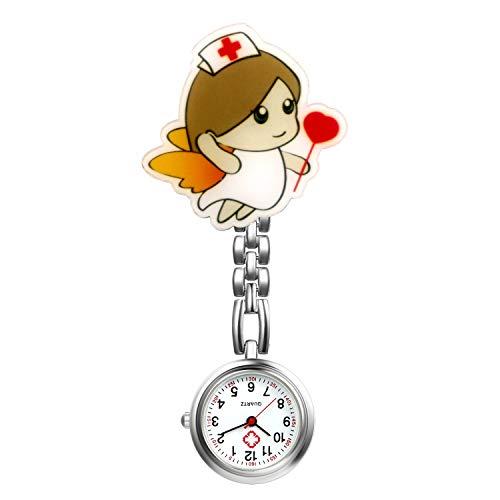 LANCARDO Uhren, Krankenschwester Armbanduhr FOB-Uhr Damen Taschenuhr Analog Quarzuhr aus Legierung LCD037P026 (Typ 1)