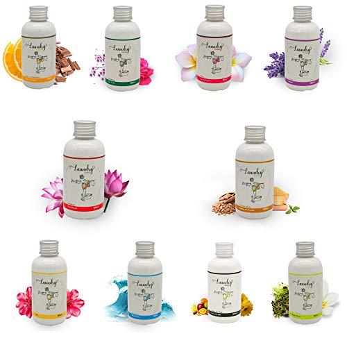 10er SET Parfüm für die Waschmaschine, Duft für die Waschmaschine, 125 ml, Wäscheduft, Wäscheparfüm, Made in Italy