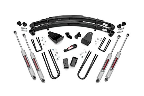 Rough Country 4' Lift Kit (fits) 1987-1997 F250 4WD includes N3 Shocks Suspension System 490-87UP30