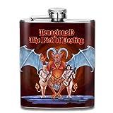 Pallone per liquore,Tenacious D 7 Oz Stainless Steel Hip Flask Leakproof Flask, Wearproof Wine Pot Flasks For Liquor For Men Women Groommans Wedding Gift