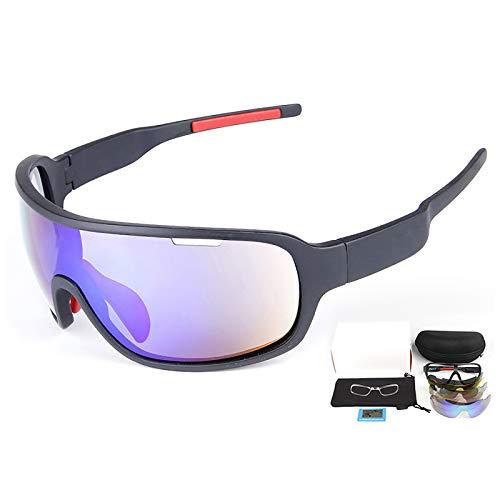 Gafas De Sol Polarizadas Hombre Mujer Confort Ultraligero 100% Protección UV con Cinco Lentes para Conducir, Pescar, Andar En Bicicleta, Correr