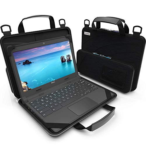 UZBL 11-11.6 inch Work-in Chromebook Laptop Case with Pouch and Shoulder Strap Size: Fits 11.6-inch Laptops