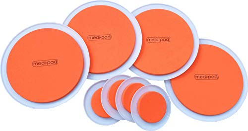 The Super Furniture Sliders (Genuine Original Orange Discs by Medipaq) - Moving Heavy Furniture Has Never Been Easier! 8 Piece Value Pack.