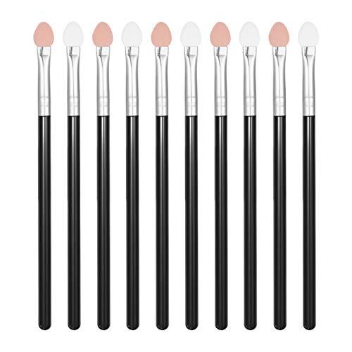 Lurrose applicateurs éponge fard à paupières lurrose poignée en plastique maquillage applicateurs pinceau fard à paupières ensemble pour les femmes 10pcs