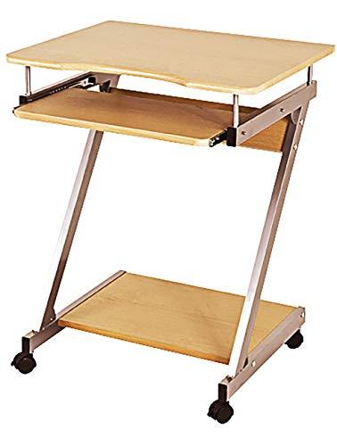 Haku Möbel Computerwagen - aus Stahlrohr - Ablagen MDF in buche H 75 cm