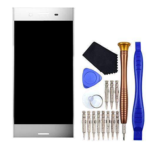 VEKIR Cromo Luminoso G8142 Riparazione dello Schermo LCD del Display Touch del digitalizzatore Sostituzione Compatibile con Sony Xperia XZ Premium G8141 SO-04K SO-04J