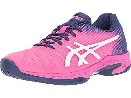 ASICS Women's Solution Speed FF Tennis Shoes, 8M, Pink GLO/White