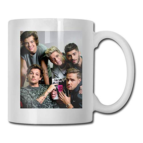 One Direction Present In The World Taza divertida de café o té Taza de bebida con personalidad de 11 oz (330 ml)