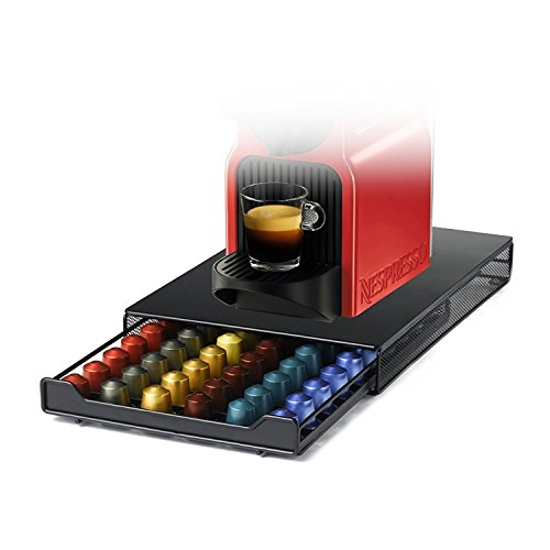 HiveNets Kaffee Kapselhalter, Schubladenbox Aufbewahrung für Nespresso, Fassungsvermögen: 60 Stück