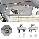 PorporBooya 2-Pack Interior Sun Visor Hook Clip Bracket for A1 A3 A4 A5 Q3 Q5 OEM(8E0 857 562) (Grey)