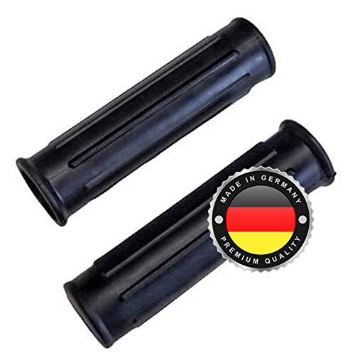 2 x Universal Schubkarrengriff | Griff | Schubkarre | Sackkarre | Schwarz | Karrengriff (25mm Gerade)