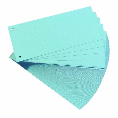 Herlitz 10843480 Trennstreifen, 100-er Packung, Blau