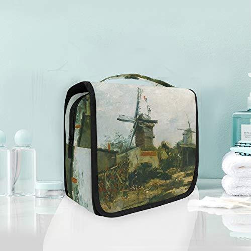 Malplena Sac de rangement portable Van Gogh Moulins à vent Trousse de maquillage pour pinceaux de maquillage, accessoires de toilette