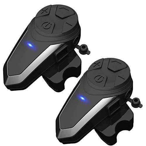 Read About Motorcycle Bluetooth Headset 2 Pack, Motorcycle Intercom 800-1000M Motorbike Helmet Bluet...