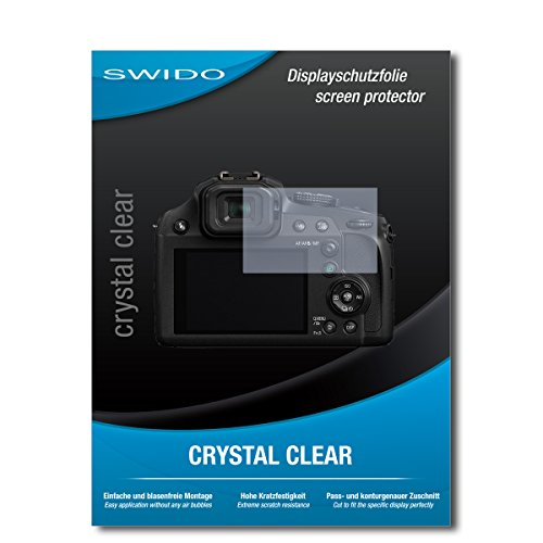 """2 x SWIDO® Pellicola Protettiva Panasonic Lumix DC-FZ82 Screen Protector Pellicola Protettiva Film """"CrystalClear"""" invisibile"""