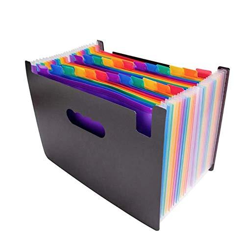 N/P Erweitern des Dateiordners A4 Paper Business File Organizer Mehrschichtklassifizierung Erweitern des Ordners Dokumenthalter12 / 24 Taschen