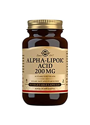 Solgar Alpha Lipoic Acid 200 mg Vegetable Capsules - Pack of 50