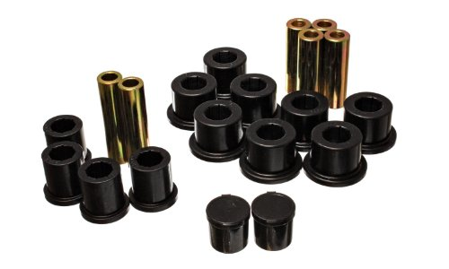 Energy Suspension 5.2118G Leaf Spring Bushing Set, Black
