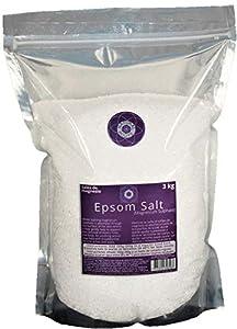 Sal de Epsom 3 Kg. Fuente Concentrada de Magnesio. Sales 100% Puras, Epsom Salts 100% Pure.