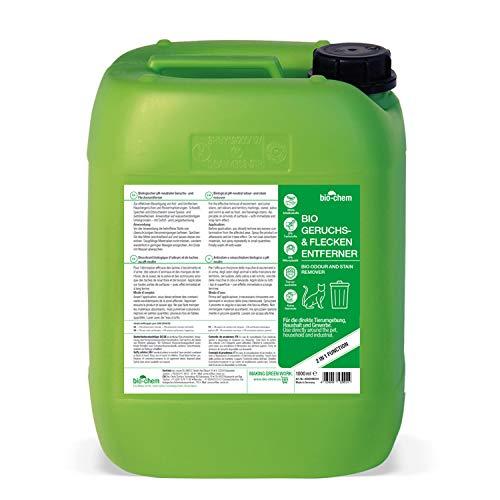 Bio-Chem Bio Urin Attacke Geruchs- und Fleckenentferner 5000 ml Kanister inkl. Zubehör Geruchsneutralisierer, Geruchsvernichter, Katzen-Urin und Hunde-Urin Entferner, Urin-Reiniger