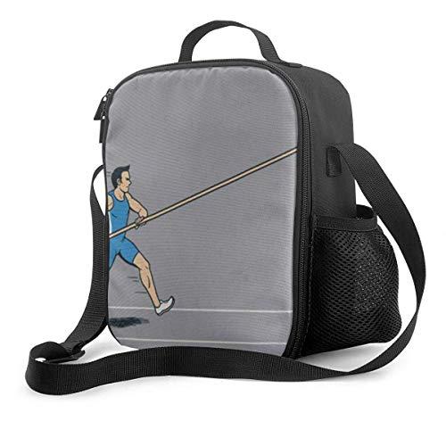 Ahdyr Fiambrera premium, bolsa de almuerzo con aislamiento de salto con pértiga para hombres, mujeres, adultos, trabajo de oficina, picnic, senderismo, playa, lonchera