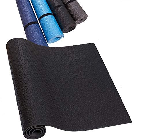 HD Fitness EVA Unterlegmatte für Fitnessgeräte Größe 2mx1m, Stärke 7mm Schwarz Laufband, Yogamatte, Schutzmatte für Boden rutschfest und schalldämmend