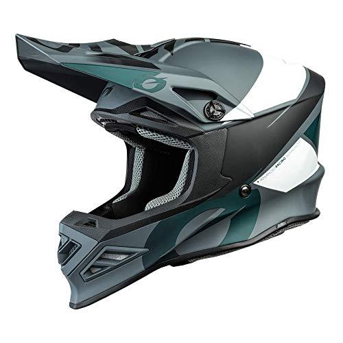 O\'NEAL | Motocross-Helm | MX Enduro Motorrad | Innovative und leichte Fiberglas Außenschale, Doppel-D-Sicherheitsverschluss | F-SRS Helmet Glitch | Erwachsene | Schwarz Grau | Größe L