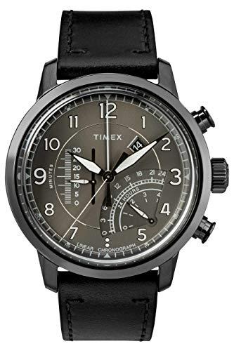 Timex Orologio Cronografo Quarzo Uomo con Cinturino in Pelle TW2R69000