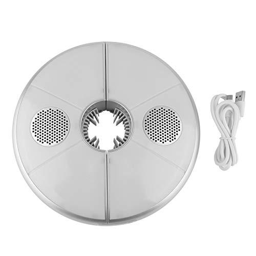TANKE Luz de Paraguas con Bluetooth Carga USB Lámpara de Tienda de campaña con luz de Poste de Paraguas LED Colorida con Altavoz Bluetooth