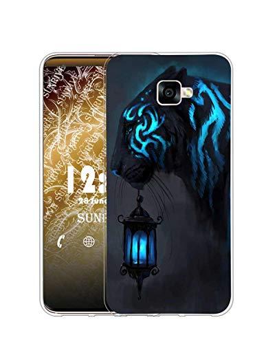 Sunrive Cover Compatibile con Samsung Galaxy A5 (2016), Custodia Case in Molle Trasparente Silicone Morbida Flessibile AntiGraffio Protettiva Back custodie(Q Tiger 4)