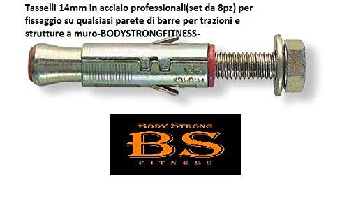 Chevilles acier (14 mm Lot de 8)-professionnels pour fixation murale Barre de traction et Rig