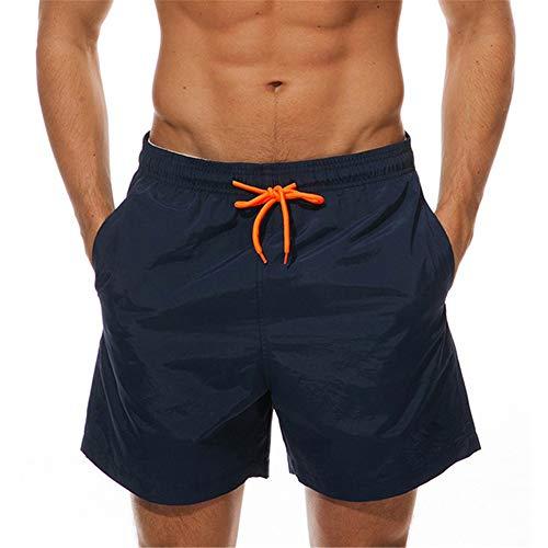 Pantalones De Playa De Verano De Color Liso para Hombre Pantalones Cortos Casuales Brillantes con Cordón Los Pantalones Deportivos De Secado Rápido Son Cómodos Y Transpirables