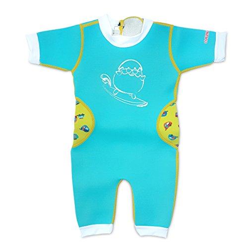 Warmiebabes-Baby, Toddler Thermal One Piece Kid Neoprene Swimwear, 18-30 Months, Blue
