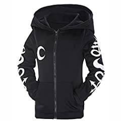 Women's Hoodie Jacket Gothic Casual Hooded Zip Up Long Sleeve Sweatshirt Top Jacket Coat Gothic Clothes for Teenager Girls #4