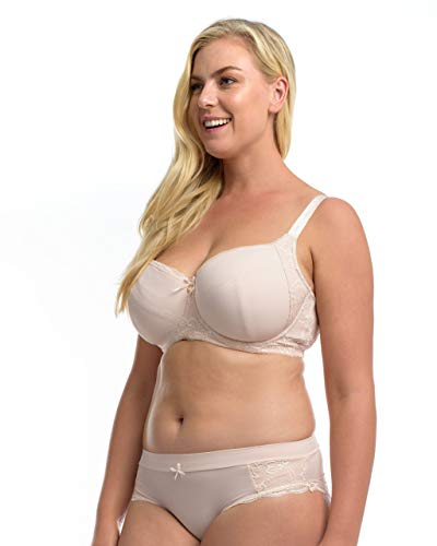 The Essential Balconette Bra: Women's Full Bust Underwire Balconette Bra with Lightly Padded Cups. Delicate Blush. 32N (USA) / 32JJ (UK)