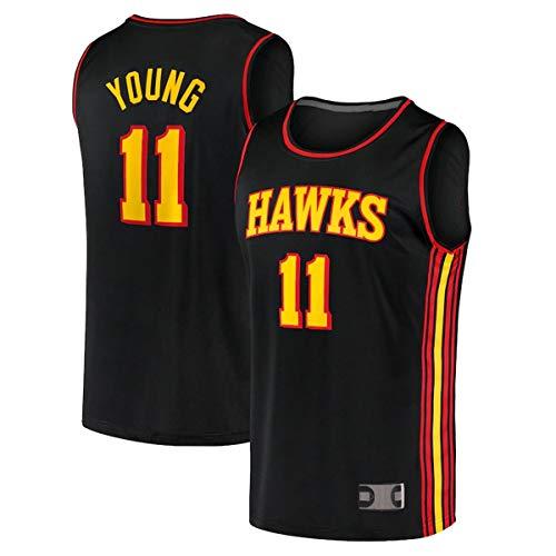 TOPSTEE Camisetas de baloncesto personalizadas Trae Atlanta NO.11 Hawks Young 2020/22 Fast Break Jersey - Declaración Edición - Negro