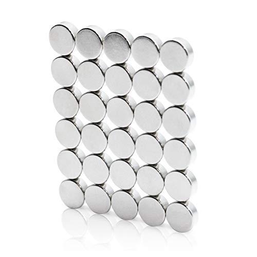 Magnetiks Neodym Magnete Mini Magnete N52 30 Stück – 8x3 mm Magnete mit hoher Haftstärke